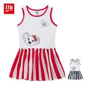 JJLKIDS 可愛啦啦隊造型無袖洋裝(2色)