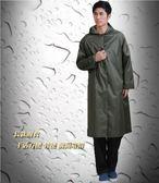 雨衣長版雨衣戶外旅行雨衣男成人長身大雨衣輕便帶袖厚雨衣    花間公主