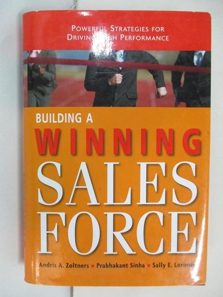 【書寶二手書T1/大學理工醫_ERO】Building a Winning Sales Force: Poweful Strategies…