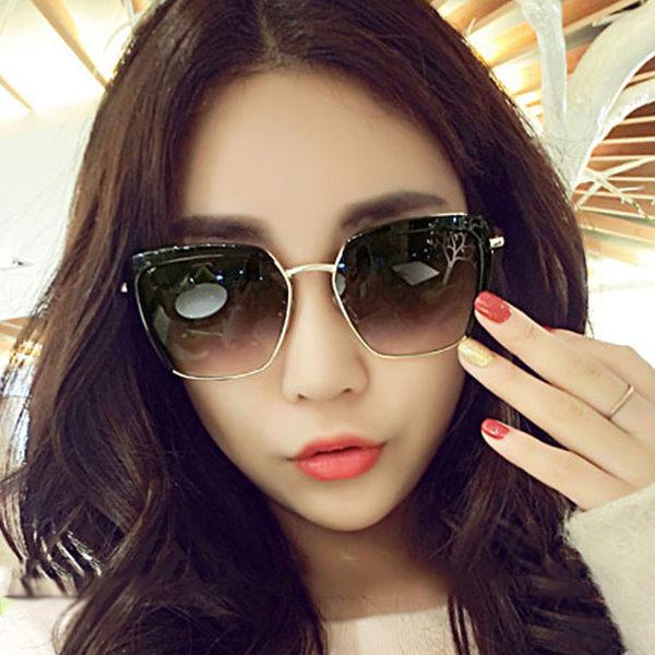 墨鏡 明星同款修臉金屬大方框太陽眼鏡【O3003】☆雙兒網☆