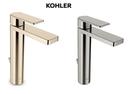 【 麗室衛浴】美國KOHLER活動促銷 Parallel 加高面盆龍頭 法蘭金K-23475T-4-AF / 霧鎳-BN