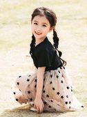 女童夏裝2019新款洋氣兒童洋裝夏季公主裙中大童小女孩裙子短袖 潮流衣舍