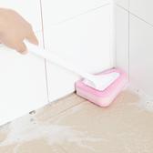 長柄刷 清潔刷 浴室 地板刷 瓷磚 馬桶刷 替換海綿 可掛式 長柄三角海綿刷(刷頭)【N028】慢思行