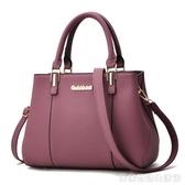 新款女包兩用媽媽手提包中年女士小包簡約手拎單肩斜背皮包包 居家物語