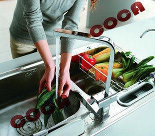 廚房龍頭 單孔冷熱全銅