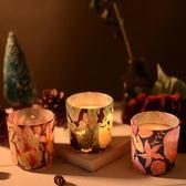 羅曼蒂克大豆蠟植物精油歐式圣誕萬圣節禮物安神香薰蠟燭玻璃杯