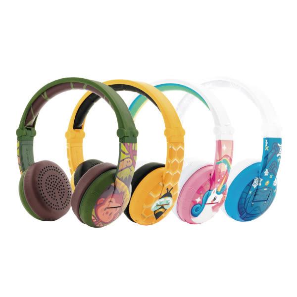 buddyPHONES 無線藍芽Wave 防水系列 兒童安全耳機 可通話 可收折 藍芽耳機(4色可選)
