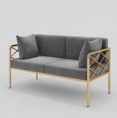 沙發椅 北歐咖啡廳卡座沙發 簡約餐廳甜品奶茶店休閒休息區雙人桌椅組合【幸福小屋】