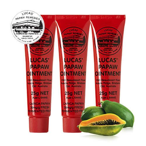 澳洲木瓜霜 Lucas Papaw Ointment 原裝進口正貨 (25g/瓶,共3入)【台安藥妝】