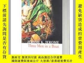 二手書博民逛書店三怪客泛舟記 三人同舟罕見Three Men in a Boat