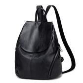 雙肩包女2019韓版簡約百搭包包大容量書包2019新款潮軟皮休閒背包