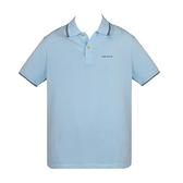 【南紡購物中心】ARMANI JEANS 經典刺繡LOGO滾邊短袖POLO衫-灰藍