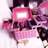 化妝箱 韓國專業多層化妝箱大容量小方包收納盒手提便攜防水多功能化妝包
