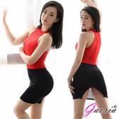 性感短裙 情趣商品 Gaoria 性感絲滑 透明後開叉緊身裙 半身裙 包裙 黑 薄紗 透氣