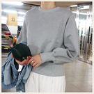 ✦Styleon✦正韓。特殊下擺收腰設計圓領T恤長袖上衣。韓國連線。韓國空運。1003。