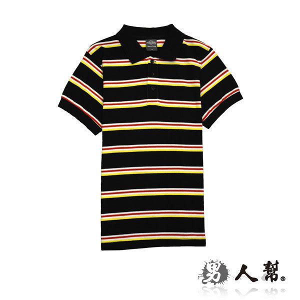 經典條紋短袖POLO衫
