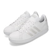 adidas 休閒鞋 Grand Court 白 全白 女鞋 運動鞋 小白鞋 皮革【PUMP306】 EE8172