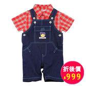 【愛的世界】牛仔吊帶褲套裝/6M~1歲-中國製- ★春夏洋裝套裝