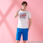 【GIORDANO】男裝素色COOLMAX卡其短褲-74 帝國藍