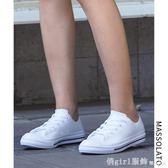 果凍鞋女淺口短筒膠鞋平底小白鞋雨靴防滑水鞋套鞋成人雨鞋女時尚 俏girl