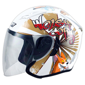 M2R J5 #6 柯基 半罩 安全帽 內藏墨鏡 內藏全可拆洗 珍珠白