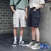 工裝短褲男素色五分褲寬褲直筒中褲休閒褲子【英賽德3C數碼館】