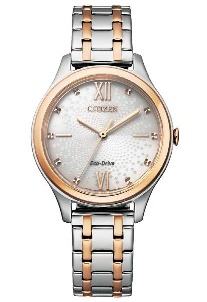 【分期0利率】星辰錶 CITIZEN 玫瑰金 光動能 32mm 原廠公司貨 EM0506-77A