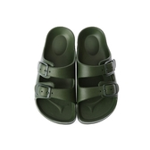 HOLA 兒童室內舒足童拖鞋-軍綠18