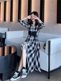 法式桔梗裙2020新款春裝女裝仙女超仙森系裙子智熏法式桔梗東大門襯衫連身裙 嬡孕哺