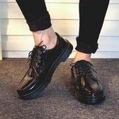 英倫男鞋 英倫風小皮鞋男大頭復古休閒馬丁靴低筒圓頭厚底韓版潮學生 米蘭街頭
