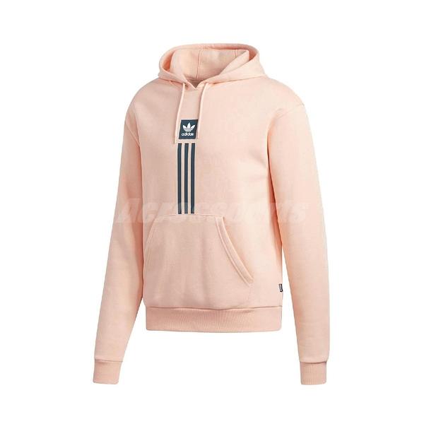 adidas 長袖T恤 Solid Pillar Hoodie 粉紅 藍 男款 帽T 滑板 運動休閒 【ACS】 EH5265