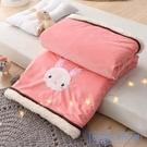 毛毯 毛毯雙層加厚冬季兒童蓋毯新生秋冬小被子珊瑚絨毯子午睡