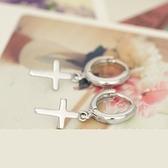 耳環 925純銀-十字架亮面情人節生日禮物女飾品73ia62[時尚巴黎]