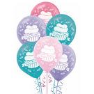 12吋乳膠氣球15入-粉紅蛋糕...