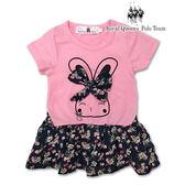 兔子圖案碎花裙擺洋裝兒童長版T 小童春夏款RQ POLO 8148