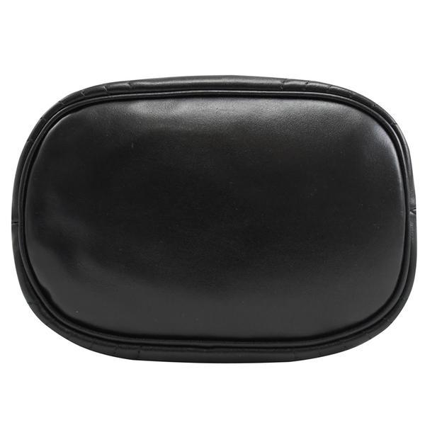 茱麗葉精品【全新現貨】PRADA 1BH038 金屬LOGO皺褶迷你兩用水桶包.黑