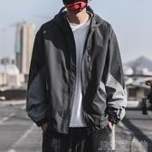 夾克外套秋冬日繫寬鬆潮流韓版連帽拼色夾克男士加厚加棉男生帥氣潮 快速出貨