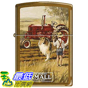 [美國直購] Farmall Tractor with Boy and Collie Dog Zippo Lighter  打火機