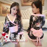 性感日式印花和服可愛游戲服裝制服誘惑套裝女式情趣  全店88折特惠