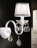 布罩水晶垂吊壁燈 現代簡約壁燈床頭壁燈 GBCEL-1018