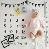 vaidu寶寶拍照背景布嬰兒滿月百天月份攝影道具加厚新生兒拍照毯 艾美時尚衣櫥 YYS