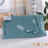 老粗布枕巾100%純棉一對裝加厚加密印花帆布枕巾吸汗防螨【倪醬小舖】