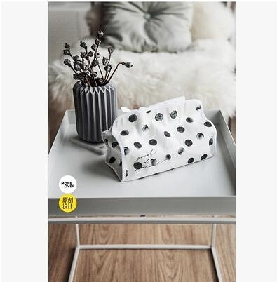 Moreover原創設計全棉紙巾盒抽紙盒抽紙套客廳床頭櫃衛生間北歐