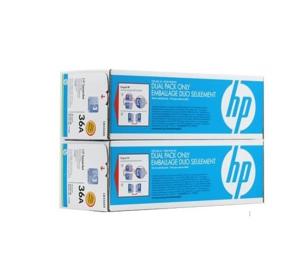 HP CB436AD 原廠黑色碳粉匣 雙包裝