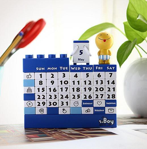 萬年曆玩具 DIY積木萬年歷玩具桌面減壓裝飾拍攝道具擺件日台歷創意生日禮物 潮先生