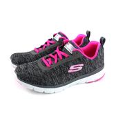 SKECHERS WIDE FIT 運動鞋 輕量 女鞋 深灰/桃紅 寬楦 13067WBKHP no992