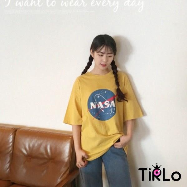 T袖-Tirlo-NASA圖案星球圓領短袖T-三色