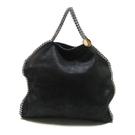 STELLA MACCARTNEY 黑色麂皮手提肩背兩用包 【二手名牌 BRAND OFF】