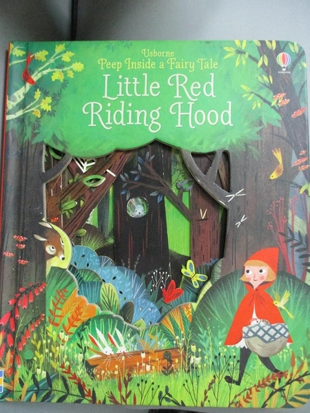 【書寶二手書T1/原文小說_JIY】Peep Inside a Fairy Tale Little Red Riding Hood_Anna Milbourne,Julia Sarda Portabella