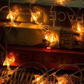 led小彩燈火烈鳥閃燈臥室裝飾節日滿天星燈串 宿舍串燈電池掛燈wy【快速出貨八折優惠】